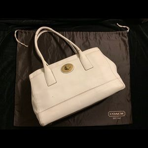 Coach Madeline Tote, White Leather